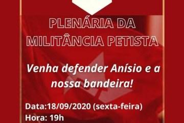 PT municipal nega intervenção de Lula e marca plenária para defender candidatura de Anísio Maia