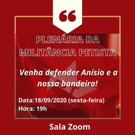 WhatsApp Image 2020 09 18 at 18.31.55 1 - PT municipal nega intervenção de Lula e marca plenária para defender candidatura de Anísio Maia