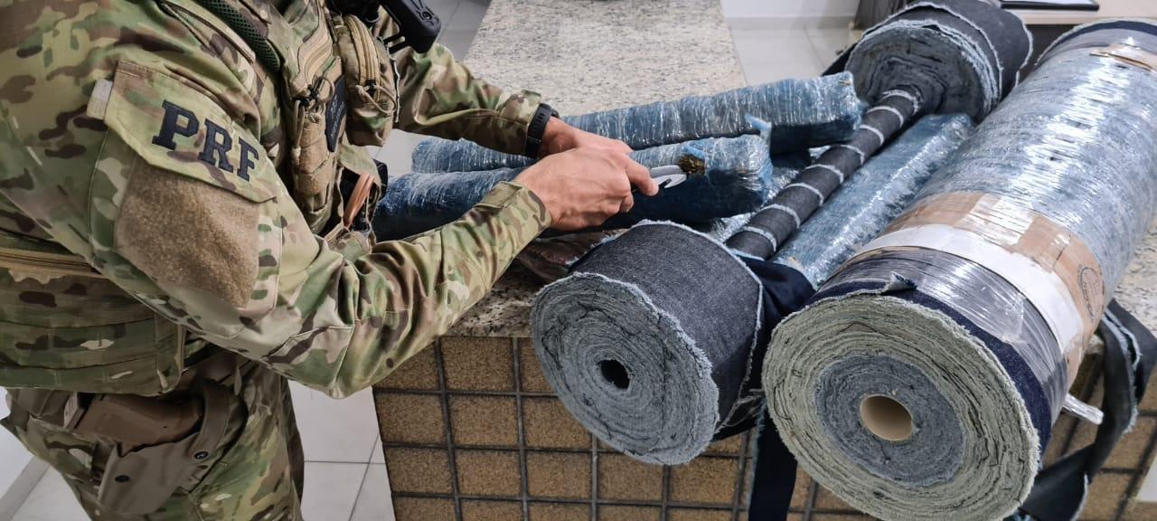 WhatsApp Image 2020 09 29 at 08.50.09 - Homem é preso pela PRF na Paraíba transportando mais de 20 kg de maconha escondidas em rolos de tecido