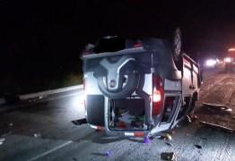 PRF na Paraíba registra acidente grave com 13 feridos na noite deste domingo (6)