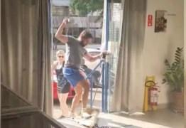 Homem se revolta com o pedido para usar máscara e danifica sorveteria – VEJA VÍDEO