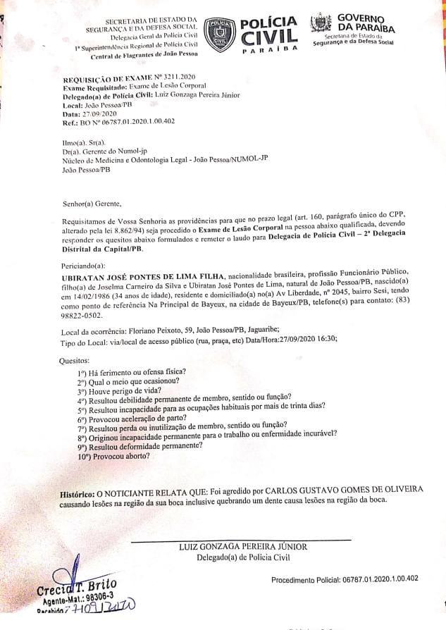 d915fedd 7019 4aeb bda7 26e823fc2ee6 - IMAGENS FORTES: Candidato a vereador de João Pessoa 'Guga de Jaguaribe' agride e ameaça morador do bairro de Jaguaribe