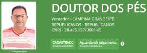 """doutor dos pes 300x108 - Batatinha, Vovô do Cuités, Wilson Cabeludo e outros candidatos a vereador em Campina Grande também possuem nomes """"curiosos"""""""