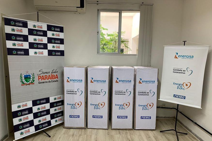 energisa doa ventiladores pulmonares para gov paraiba 04 - Ventiladores pulmonares são doados pela Energisa para tratamento das vítimas da Covid-19 na Paraíba