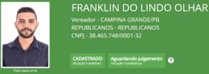 """franklin do lindo olhar 300x107 - Batatinha, Vovô do Cuités, Wilson Cabeludo e outros candidatos a vereador em Campina Grande também possuem nomes """"curiosos"""""""