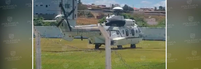helicoptero bolsonaro - VISITA NA PARAÍBA: Comitiva de segurança do presidente Jair Bolsonaro já chegou a Coremas – VEJA VÍDEO