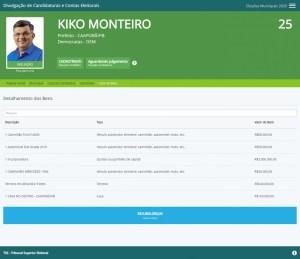 kiko monteiro 1 300x259 - PEDRAS DE FOGO E CAAPORÃ: Candidatos a prefeito no Litoral Sul, Manoel Júnior e Kiko Monteiro são os únicos milionários na região - VEJA LISTA DE BENS