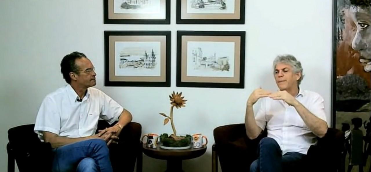 live ricardo - Ricardo Coutinho faz live durante o debate na Rádio Arapuan - VEJA VÍDEO