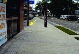 ACESSIBILIDADE: Poste interrompe trajeto de piso tátil na Avenida Epitácio Pessoa e Defensoria recomenda à PMJP que revise obra