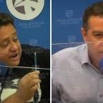 """wallber joao almeida 2 1 - Em debate, João Almeida responde acusações de Wallber Virgolino: """"Pare de ser fake"""" - VEJA VÍDEO"""