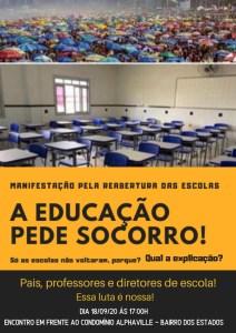whatsapp image 2020 09 16 at 101628 212x300 - Movimentos organizam protestos pela reabertura das escolas particulares na capital
