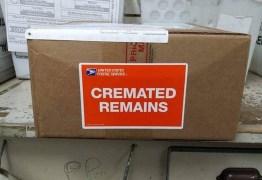 Cinzas de falecida são perdidas após ser enviadas a endereço errado