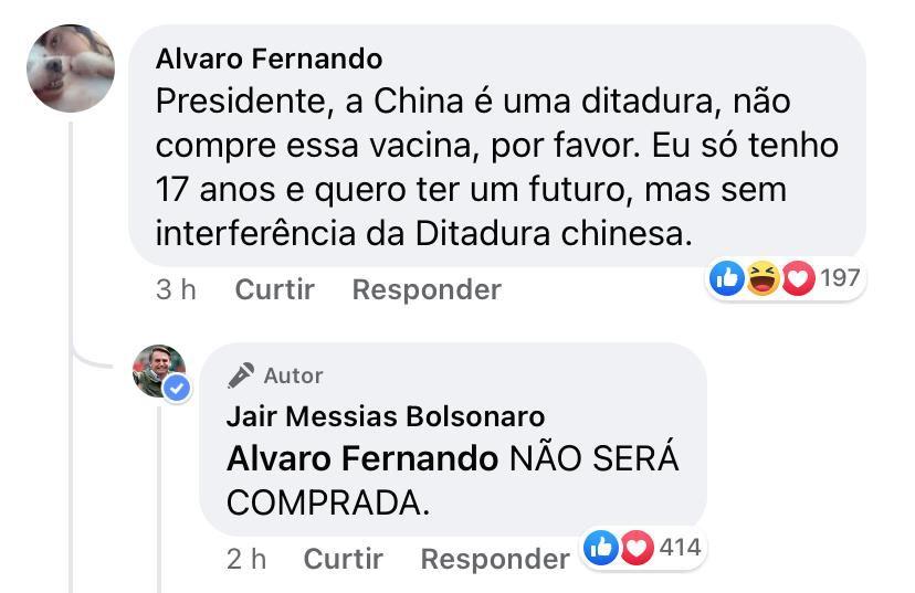 """6331AA39 78BE 44A4 BA6C FB3627CA55D8 - DESASTRE NA PANDEMIA: João Azevedo critica Bolsonaro por suspender compra da vacina chinesa: """"Pequenez política"""""""