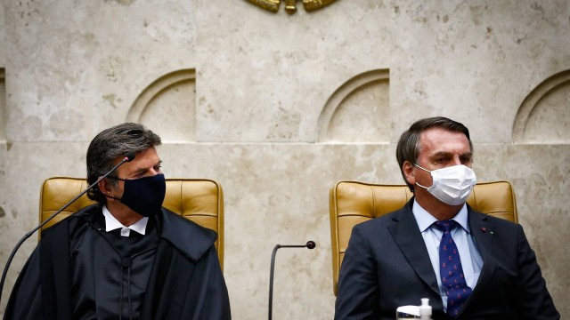 89527520 pa brasilia bsb 10 09 2020 posse do ministro luiz fux como novo presidente de stf a pos - STF julga se Bolsonaro pode depor por escrito em inquérito sobre PF