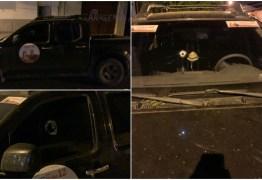 ATENTADO: Carro de candidata à Prefeitura de Condado e alvejado a tiros
