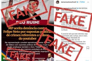 Elbhwt6WkAAfwY5 - Felipe Neto rebate Damares e diz que denúncia do MPF é 'mentirosa'