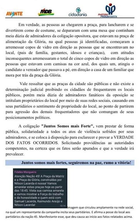 IMG 7943 - CONCEIÇÃO: Partidos alegam confusão e agressões por parte dos apoiadores adversários – LEIA NOTAS
