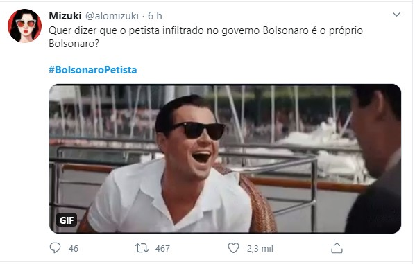 Sem título.jpg2  - '#bolsonaropetista' entra no topo do twitter após presidente indicar Kassio Nunes para vaga no STF