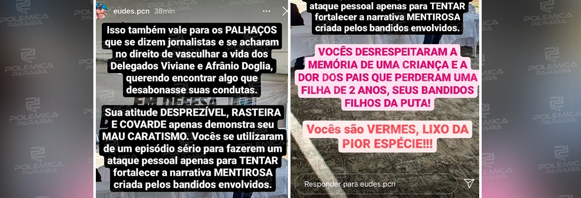 WhatsApp Image 2020 10 05 at 11.51.55 - Sindicato dos Jornalistas da Paraíba repudia comentário 'desequilibrado e inconsequente' do policial civil Eudes Carvalho Neto; LEIA A NOTA