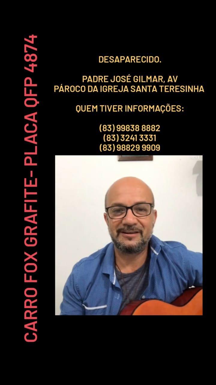 WhatsApp Image 2020 10 13 at 20.12.02 - Enviou pedido de socorro pelo WhatsApp: Padre da Igreja Santa Teresinha desaparece em João Pessoa