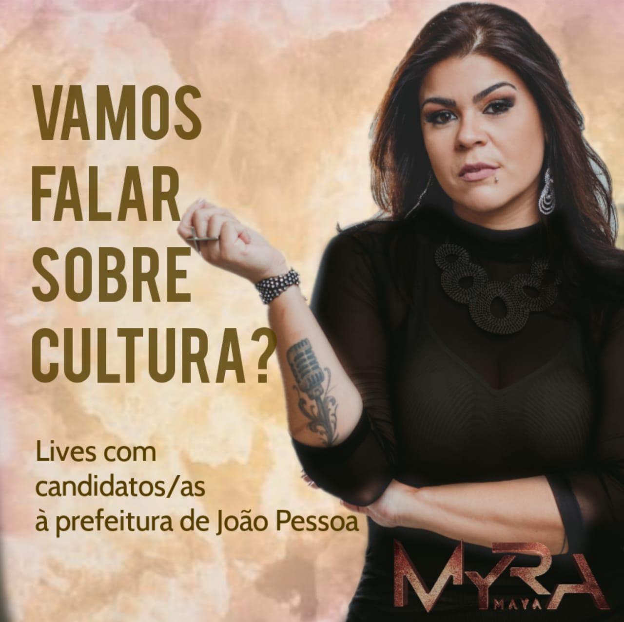 WhatsApp Image 2020 10 19 at 12.48.39 - Cantora paraibana promove lives com prefeitáveis à PMJP para falar sobre Cultura; confira