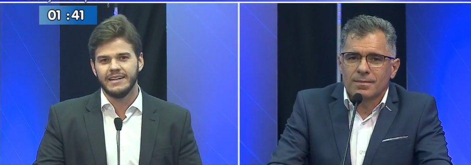 debate 1 e1602638329911 - Arthur Bolinha diz que Bruno Cunha Lima não tem experiência para governar Campina Grande e candidato rebate