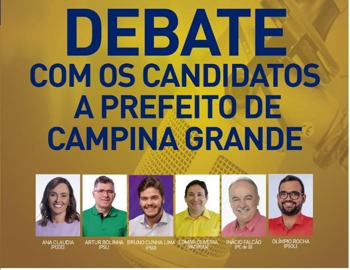 debate campina - TV Arapuan realiza primeiro debate com candidatos a prefeito de Campina Grande nesta terça-feira (13)