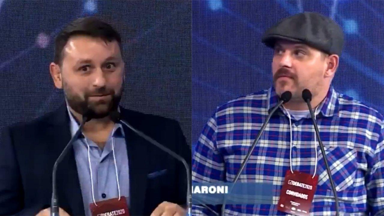 debate poa meme - Candidato faz pergunta inusitada e deixa concorrente chocado durante debate em Porto Alegre - VEJA VÍDEO