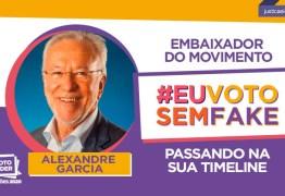 """Alexandre Garcia vira """"embaixador"""" de ação do TSE contra fake news e """"ciclo de ódio"""""""