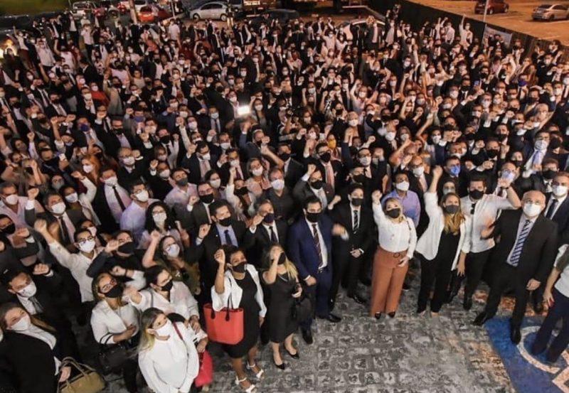 img 9605 800x553 1 - PROTESTO: Centenas de advogados fazem ato em frente à Central de Polícia Civil em João Pessoa