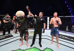 UFC: Khabib Nurmagomedov finaliza Justin Gaethje e anuncia aposentadoria do MMA