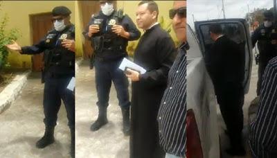 padre luciano  - Padre Luciano comunica durante celebração da missa que está deixando a paróquia de Conde - VEJA VÍDEO