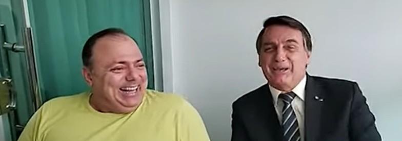 pazuello e bolsonaro - COVID-19: Ministro da Saúde recebe alta do hospital após passar duas noites internado