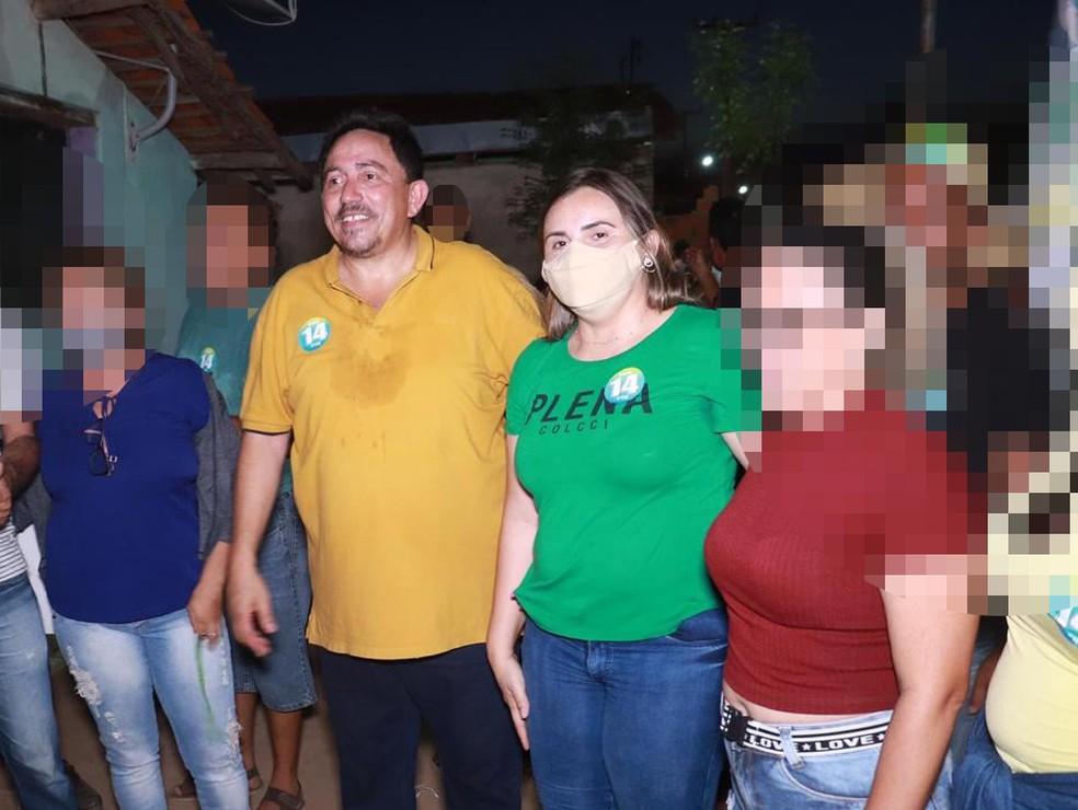 prefeito agricolandia 2 - Compra de votos: Prefeito e primeira-dama candidata são presos em flagrante com lista de eleitores e R$ 80 mil em dinheiro