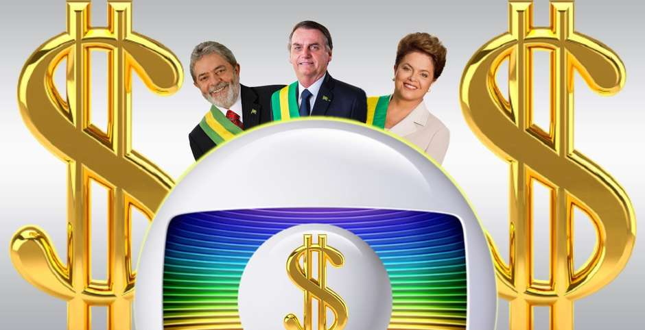 presidentes - Boicotada por Bolsonaro, Globo ganhou R$ 7 bi com Lula-Dilma - Por Jeff Benício