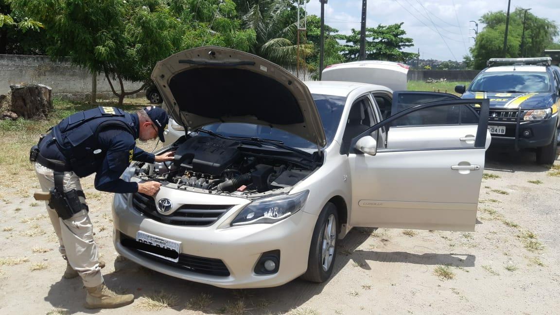 prf veiculo tres ocorrencias - Três veículos roubados e clonados foram recuperados pela PRF na Paraíba