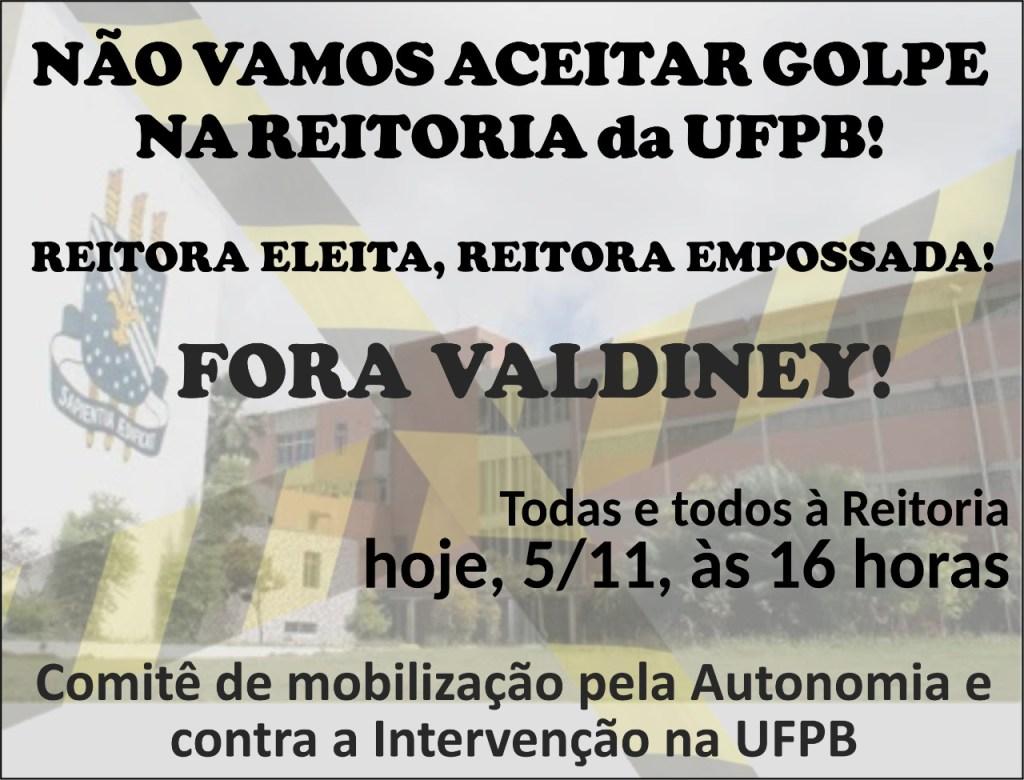 3761e8bb 439d 4774 ba6e bf1aa123107a 1024x780 - Entidades estudantis protestam e marcam ato público contra posse de novo reitor da UFPB