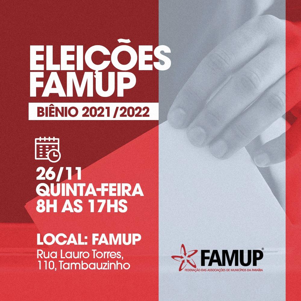 4dd30415 6033 4432 8e41 2173a0777654 - Eleições internas da Famup acontecem nesta quinta-feira em João Pessoa
