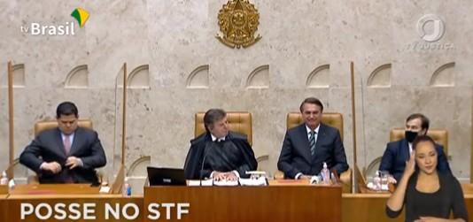 BOLSONARO 1 - Bolsonaro participa da posse de Kássio Nunes no STF; VEJA VÍDEO