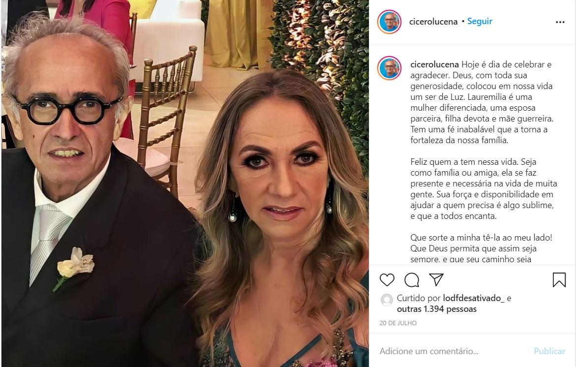 ESPOSA CICERO - O LADO FAMÍLIA: conheça um pouco mais da vida dos candidatos à PMJP, Cicero Lucena e Nilvan Ferreira