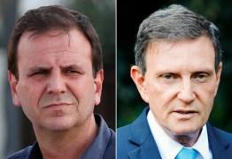 BOCA DE URNA/IBOPE RIO: Eduardo Paes, 39%; Crivella, 20%; Benedita, 14%; Martha, 11%