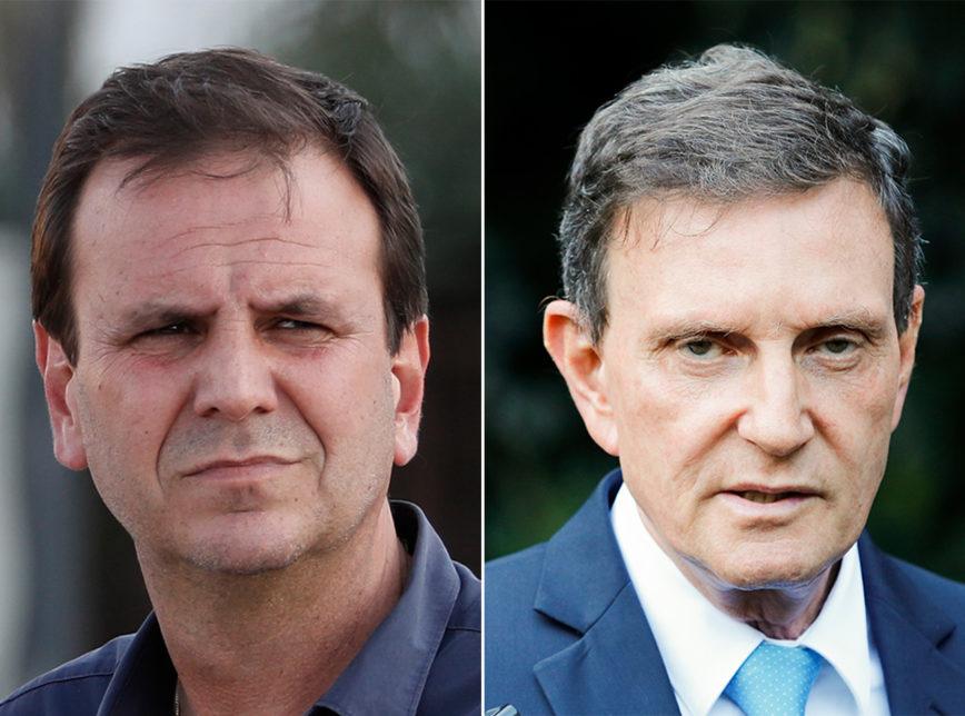 Paes e Crivella 868x644 1 - BOCA DE URNA/IBOPE RIO: Eduardo Paes, 39%; Crivella, 20%; Benedita, 14%; Martha, 11%