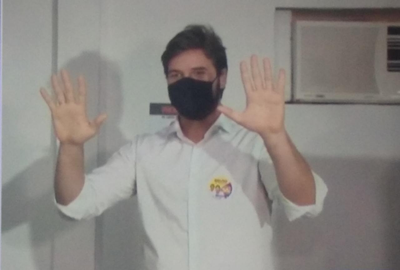 WhatsApp Image 2020 11 15 at 11.03.48 1 1 - Em Campina Grande, Bruno se diz confiante na vitória no primeiro turno