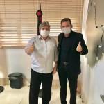 WhatsApp Image 2020 11 24 at 14.10.37 1 - Prefeito reeleito de São José de Piranhas Chico Mendes, se encontra com Governador João Azevêdo para discutir demandas da cidade