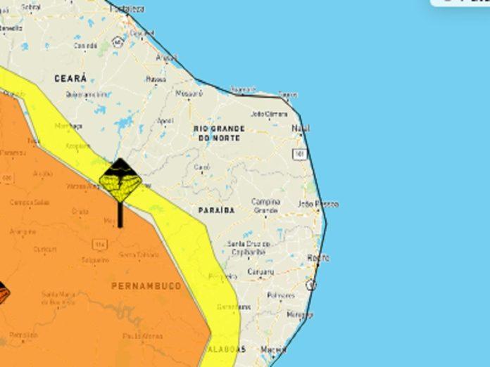 alerta 696x522 1 - Inmet emite alerta de chuva forte para vários municípios da Paraíba
