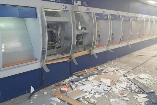 ataques a banco - Bandidos invadem agência bancária e violam caixas eletrônicos em João Pessoa