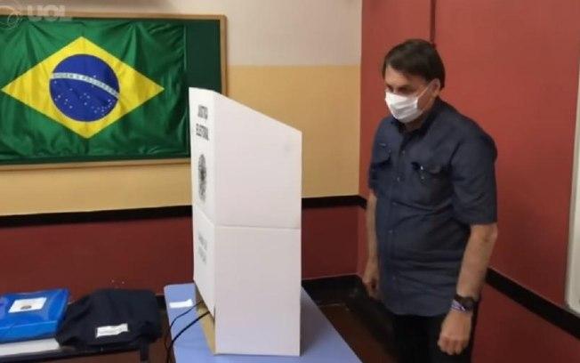 bozo 1 - Bolsonaro vota no segundo turno das eleições municipais no Rio