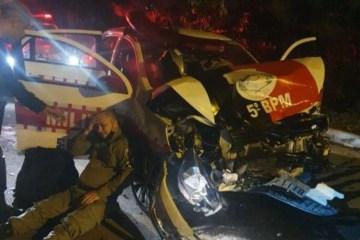 clisao viatura - Polícia Militar prende suspeito de sequestrar motorista de aplicativo após perseguição