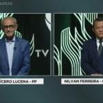 """debate cicero nilvan - Nilvan desafia Cícero sobre pensão de ex-governador: """"renuncie sua candidatura caso não tenha recebido"""""""