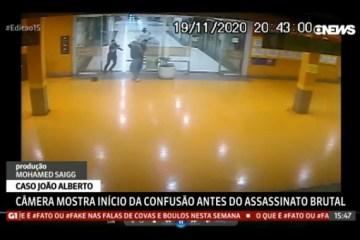 globonews - DESENTENDIMENTO: imagens mostram soco de João Alberto em segurança antes de agressão até a morte; VEJA VÍDEO